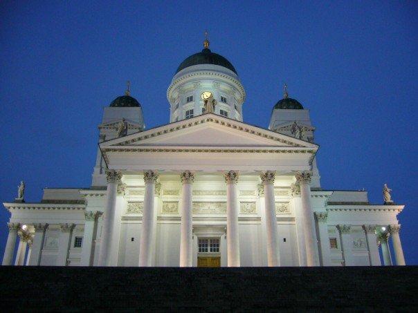 Helsingin Tuomiokirkko, the most famous landmark in Finland's capital