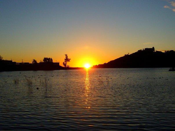 Sunset over Lake Murray, San Diego.