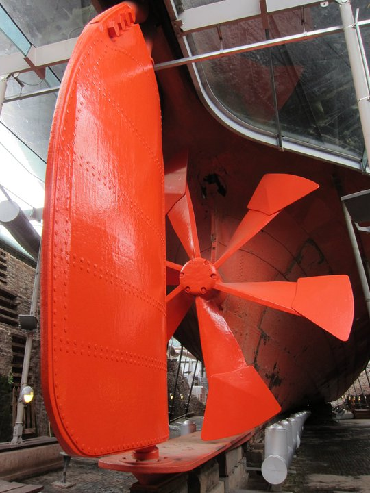 Propeller on the SS Great Britain, Bristol