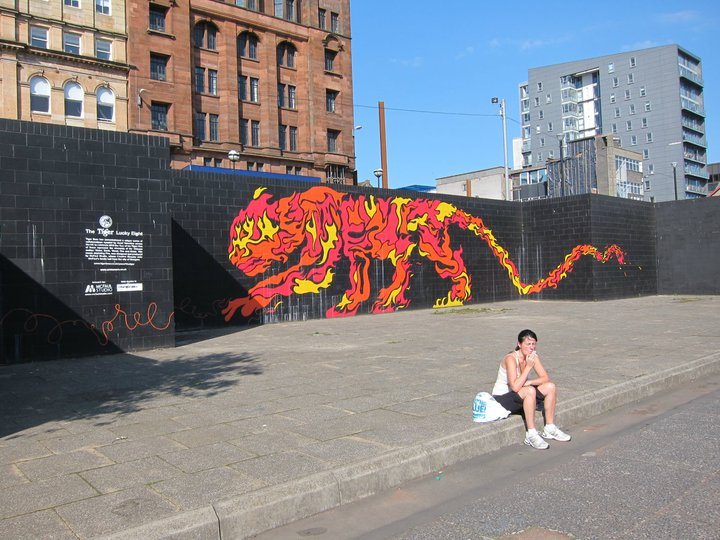 Tiger beer ad in Glasgow