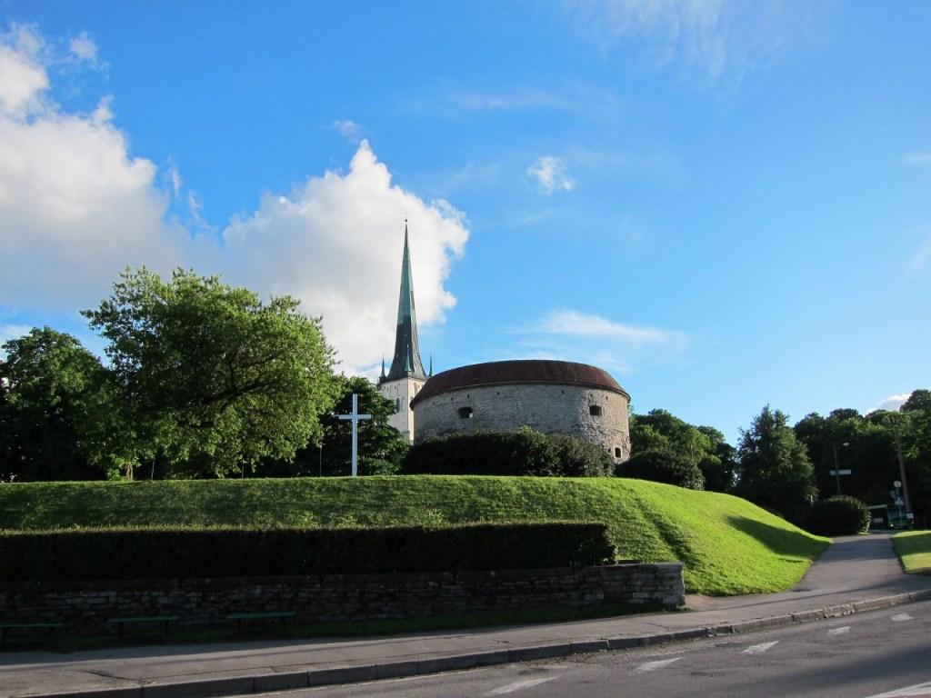 The old city walls of Tallinn