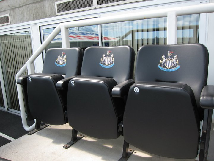Box seats at St JJames' Park, Newcastle