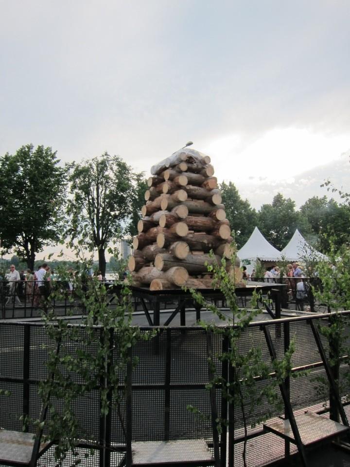 Bonfire pyre on the Krastmala