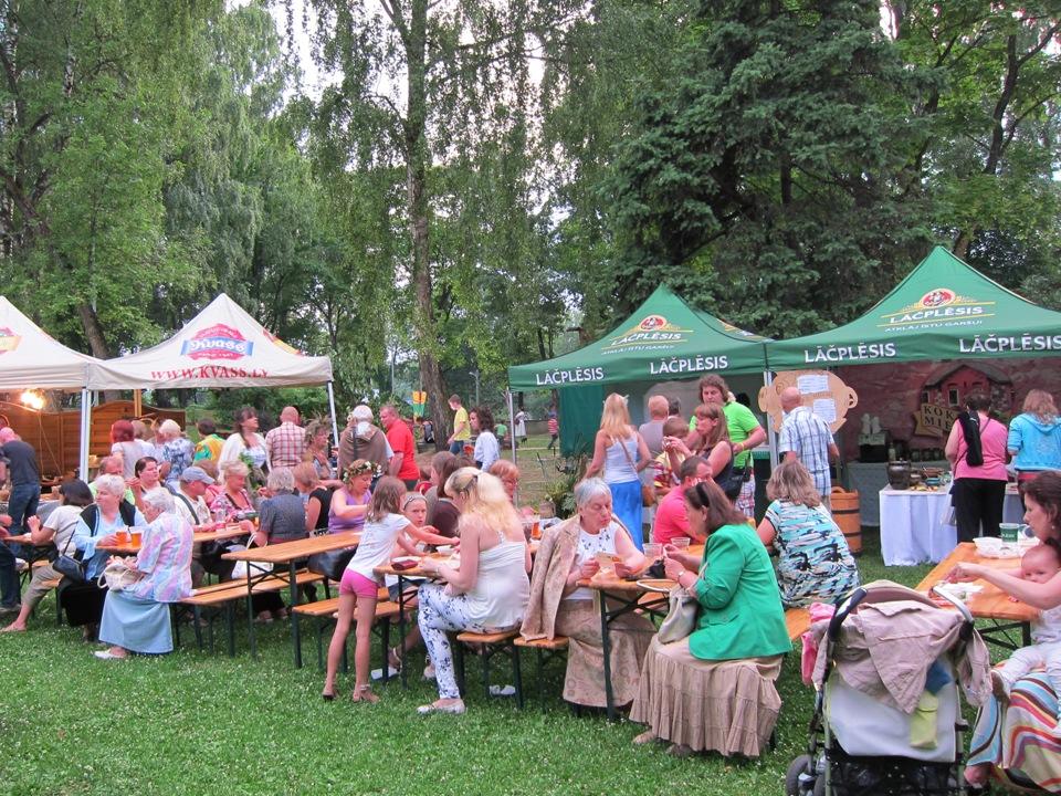 Food stalls at Dzeguzkalns
