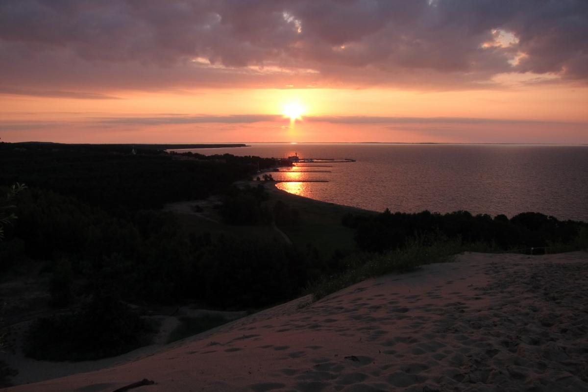 sunrise over curonian spit