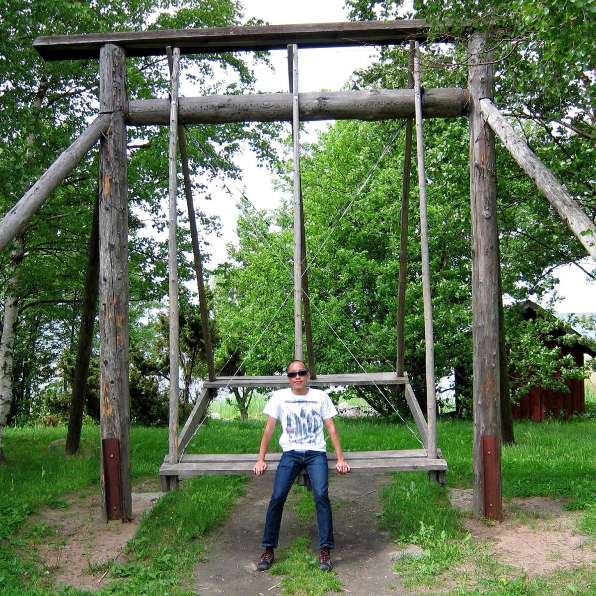 Estonian swing in Turbuneeme, Estonia