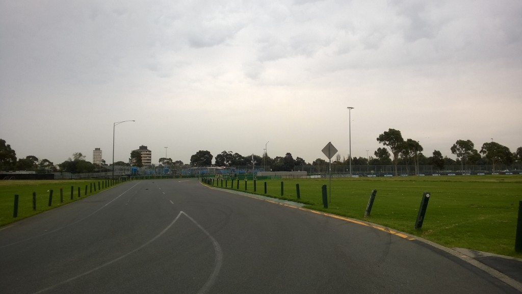 Albert Park pit entry