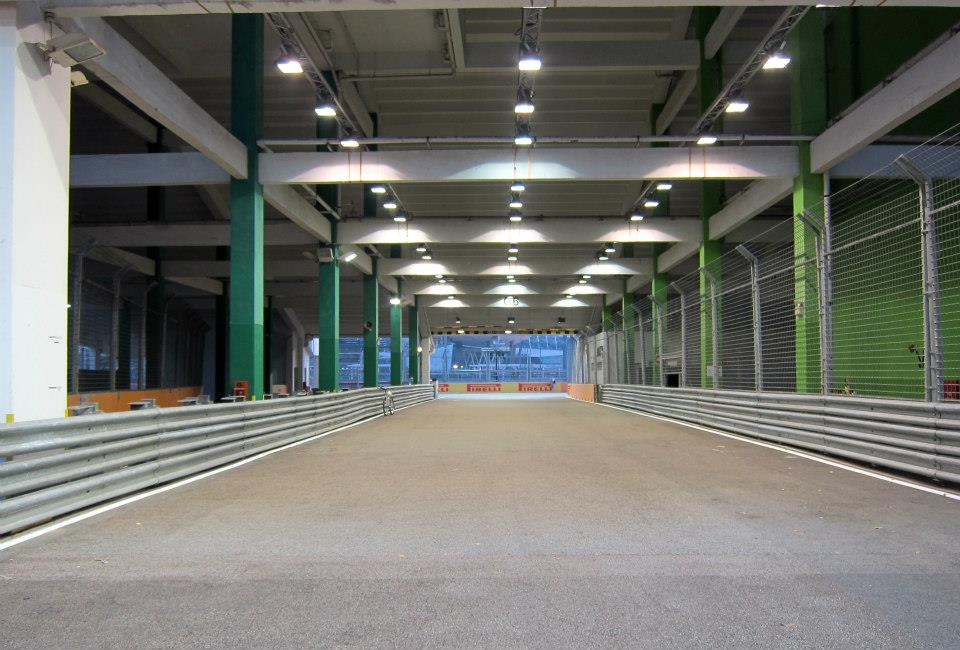 Then the cars head under the grandstand - if they negotiate Turn 19 safely.