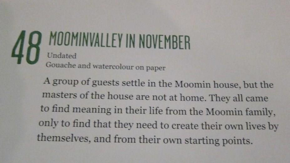No photography beyond this in Moomin Valley Museum