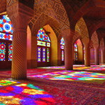 The Stained Glass Light Show at Nasir ol-Molk (Nasir al-Mulk) Mosque