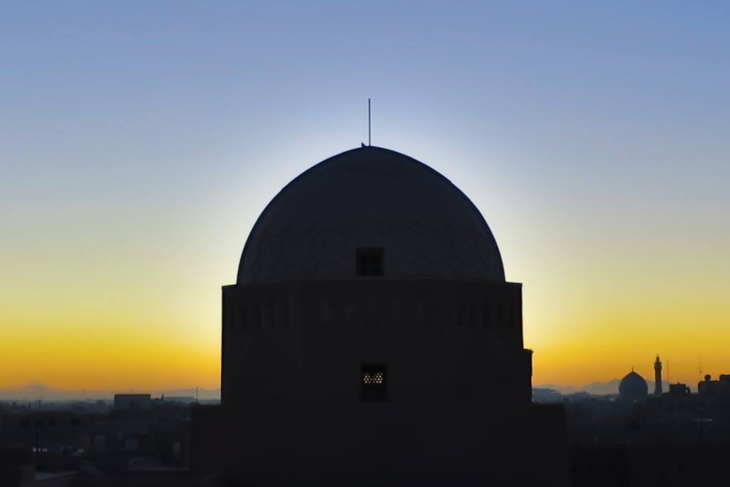 Watching the Sunrise in Yazd