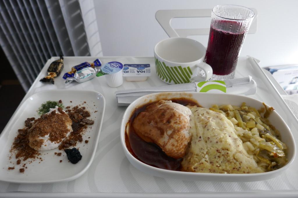 Finnair A320 lunch