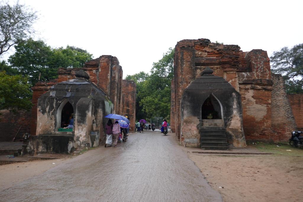 Riding through Tharabar Gate in Bagan
