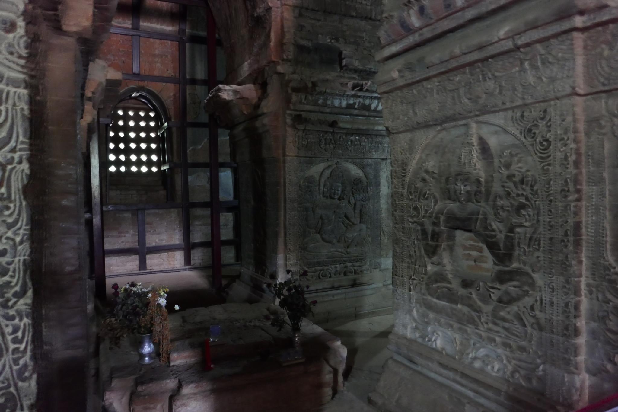 Brahama reliefs inside Nanpaya, Bagan