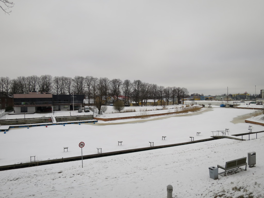Venus Bastion Valli park in Pärnu in winter