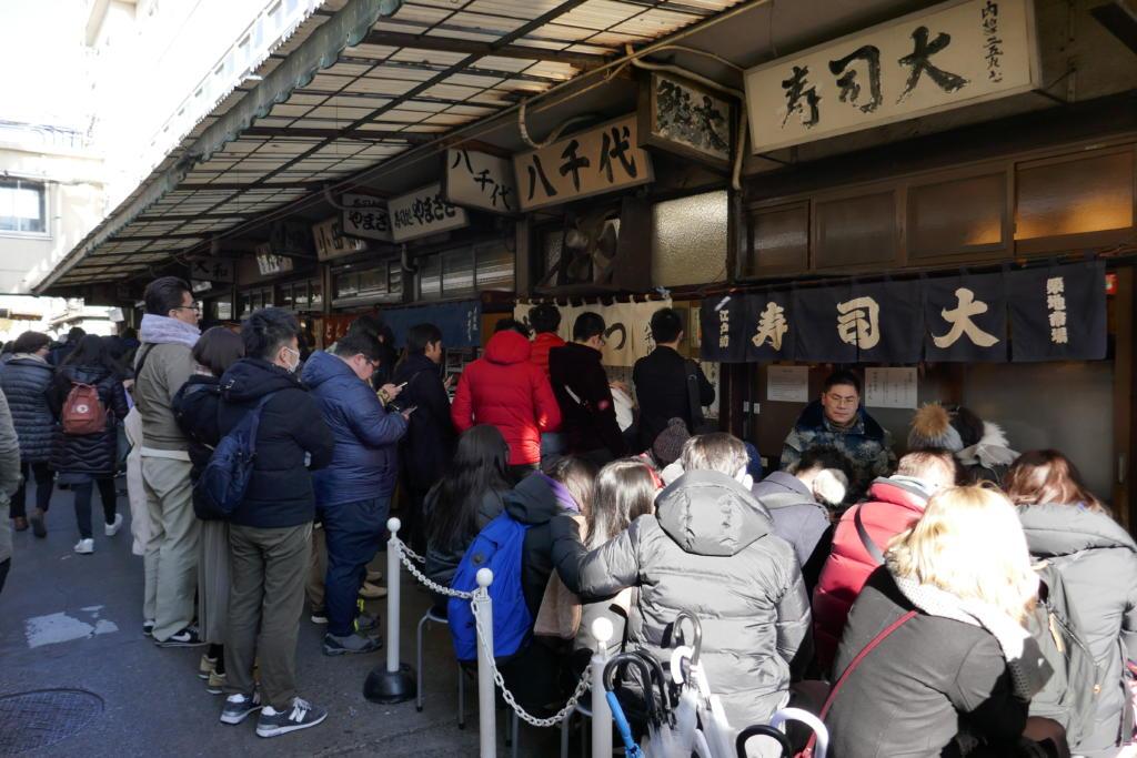 Tsukiji market sushi restaurants