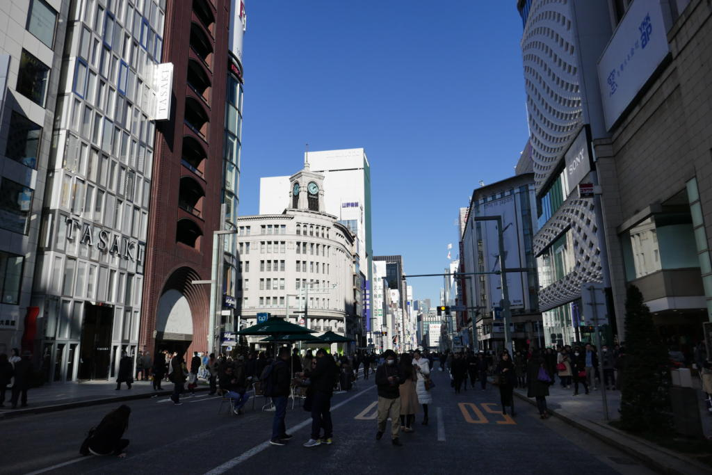 Ginza intersection, Tokyo
