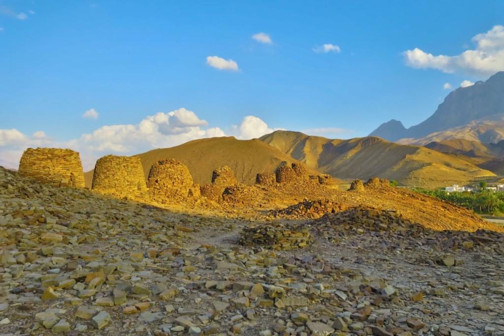 Beehive tombs in Oman