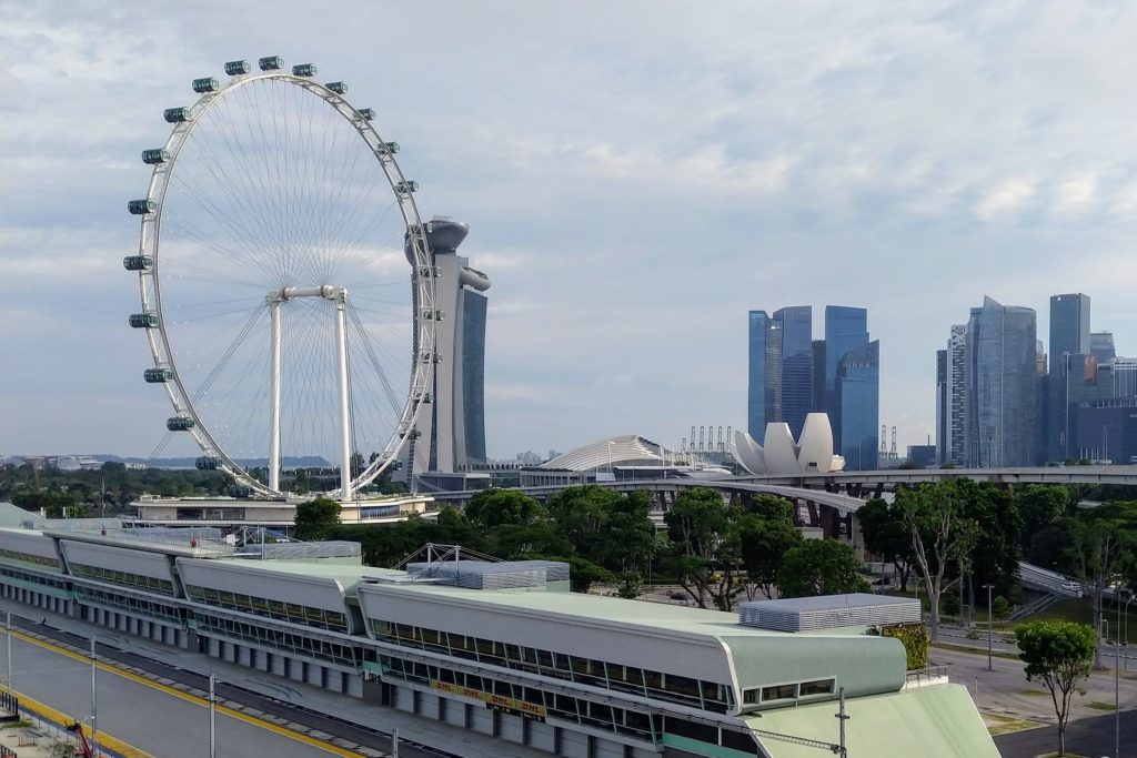 view of singapore from benjamin sheares bridge