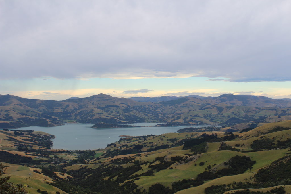 Akaroa view from Hilltop Tavern